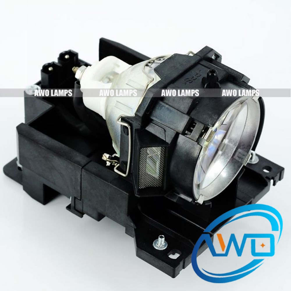 AWO CPX605 Lamp Replacement Projector Bulb DT00771 with Housing for HITACHI CP-X505/X600/X605/X608 High Quality Bulb Inside dt01151 projector lamp with housing for hitachi cp rx79 ed x26 cp rx82 cp rx93 projectors