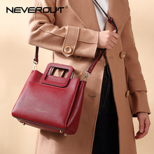 NEVEROUT 4 Color Small Handbag High Quality Genuine Leather Brand Women Name Bag Handbags Dress Style Tote Female Shoulder Bags