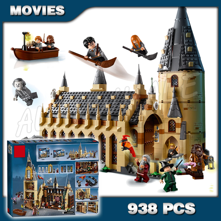 938 pièces magie poudlard grande salle château Basilisk Fawkes 11007 modèles de blocs de construction jouet briques Harri Potter Compatible avec