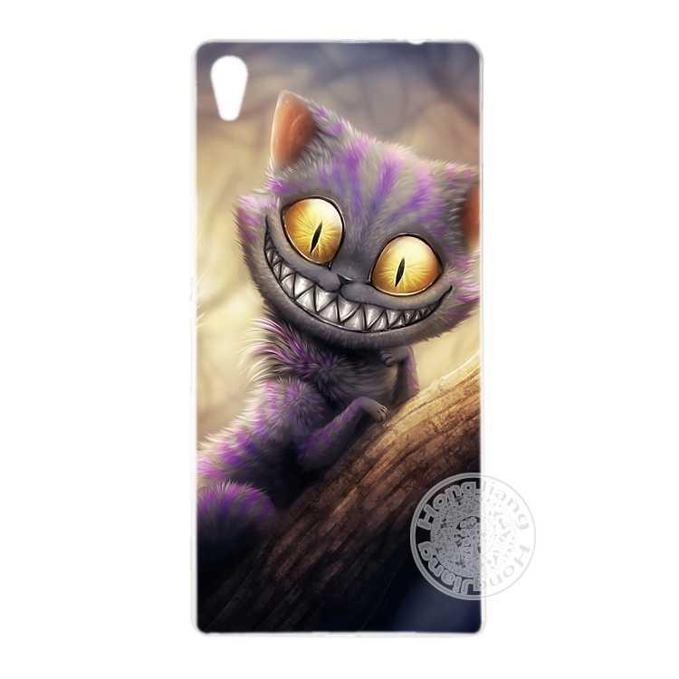 HAMEINUO חתול צ 'שייר כיסוי טלפון עבור sony xperia z2 z3 z4 z5 מיני בתוספת אקווה M4 M5 E4 E5 C4 C5