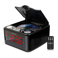 Clocked cd drive CD player, stereo speakers alarm clock usb prenatal Zaojiao / WMA music FM radio aux input headphone output MP3