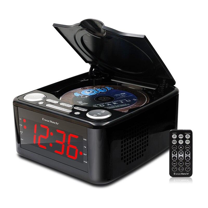Lecteur cd verrouillé lecteur CD, haut-parleurs stéréo réveil usb prénatal Zaojiao/WMA musique FM radio aux entrée casque sortie MP3