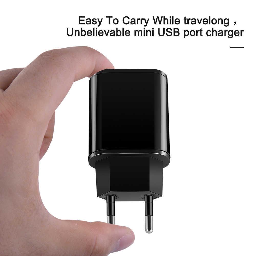 V 2A Tường Adapter Sạc Điện Thoại Di Động EU Cắm USB Sạc Tường 5 Cáp Sạc Dây USB Cho iPhone iPad samsung Huawei Xiaomi