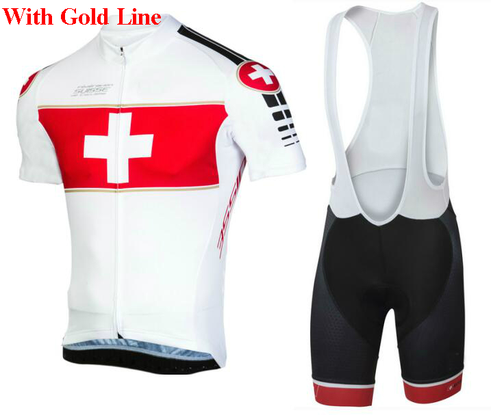 d5a998a89 2018 Switzerland Team pro Cycling Jersey BIKE SHORTS SET Summer MENS Mtb  Bicycle Clothing Ropa Maillot