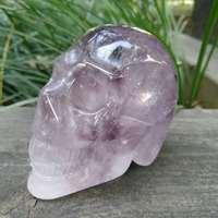 Amethyst Crystal Quartz Skull Gemstone Skull