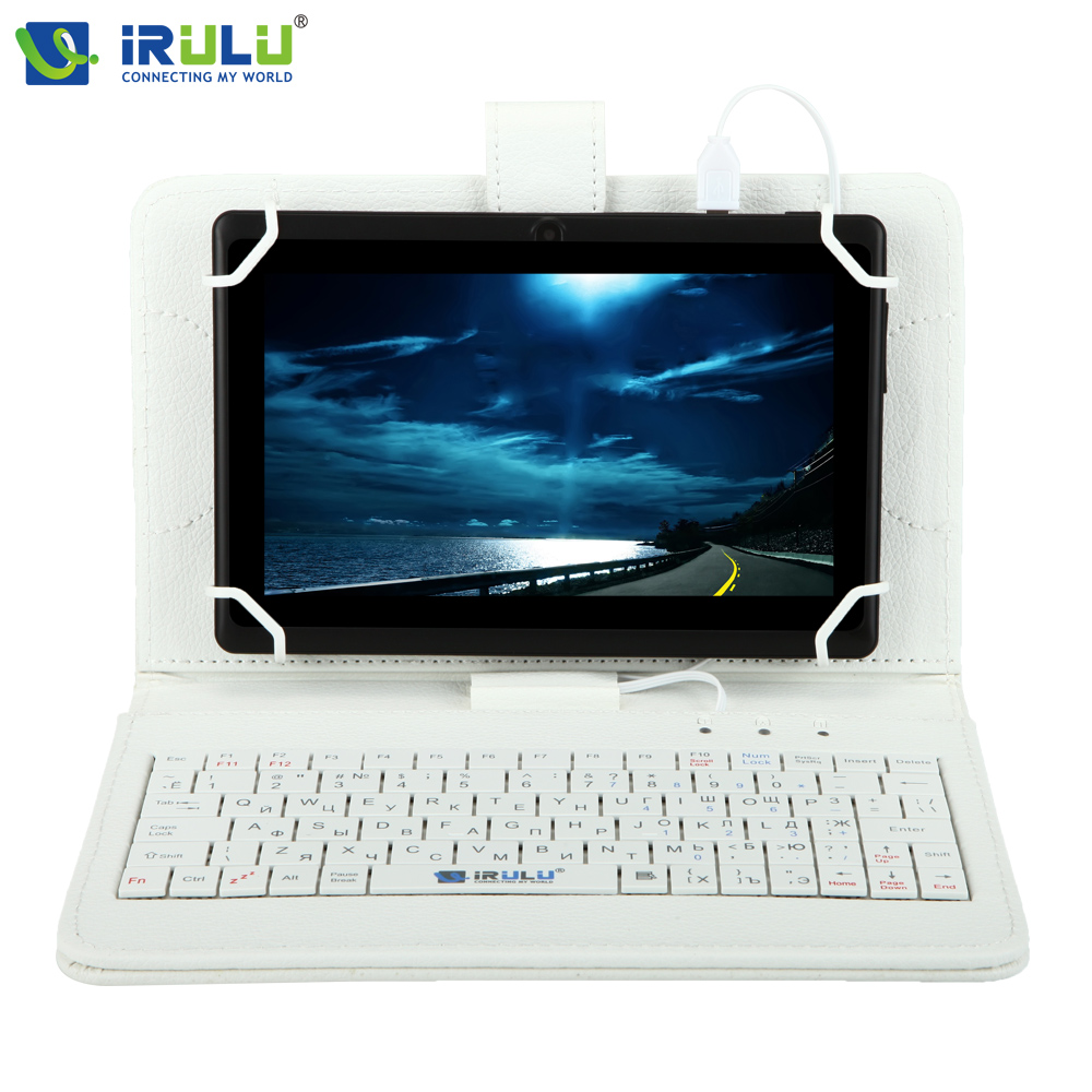 iRULU eXpro X1 7 Tablet PC Allwinner A33 Google APP Play Android 4.4 Quad Core 8GB WIFI 1024*600 HD With Russia Keyboard irulu expro x1 7 tablet pc allwinner a33