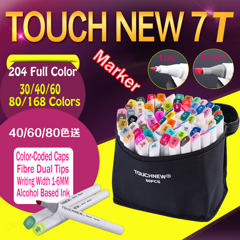 Touchnew 7th Art Twin Marker manga drawing set sketching architecture design Comic art colored marker pen calligraphy stationery architecture hand painting creation and techniques a master s art course of live sketching