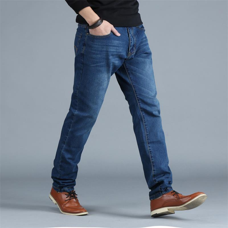 Plus size 10XL 8XL 6XL 5XL 4XL Men's Big and Tall Jeans Pants Denim Mens Loose Fit Jeans Stretch Jeans Men Washed Baggy Big size moruancle men s baggy cargo jeans pants loose straight tactical denim trousers for big and tall size 29 46 side zipper pockets