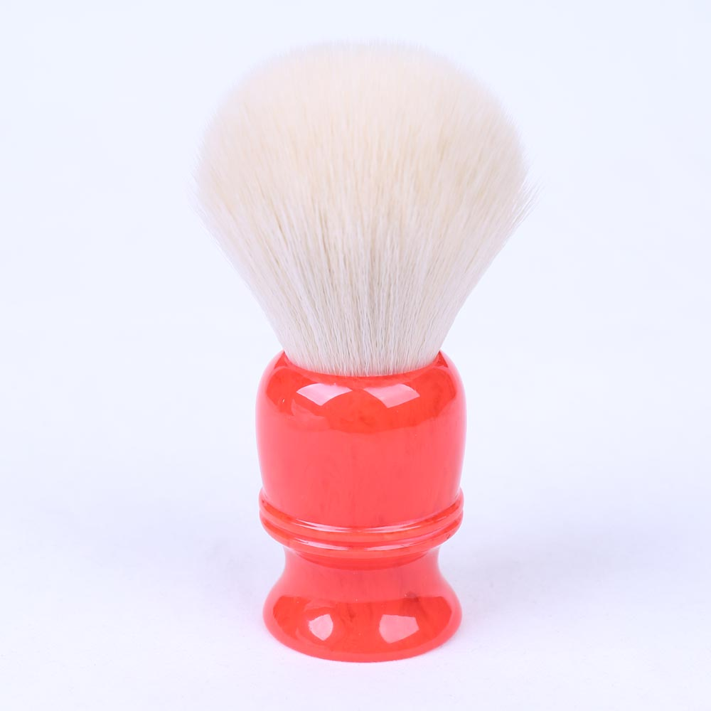 28mm Fashion Watermelon Red Resin Handle Synthetic Hair Non Animal Hair Shaving Brushes