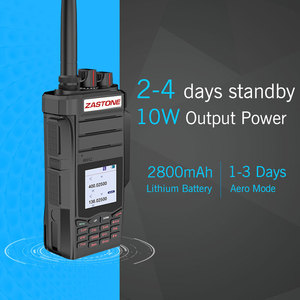Image 2 - 2 pièces Professionnel Two Way Radio Talkie Walkie UHF VHF 10 W Jambon CB Radio Communicateur HF Émetteur Récepteur