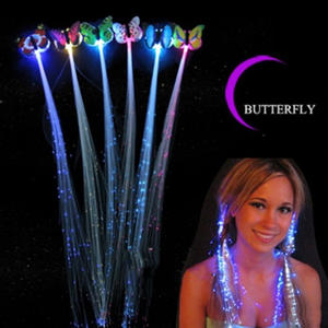 Headband Hairpin-Clip Glow-Hair Party Random-Colors Light-Up LED Braids Flash Led-Fiber