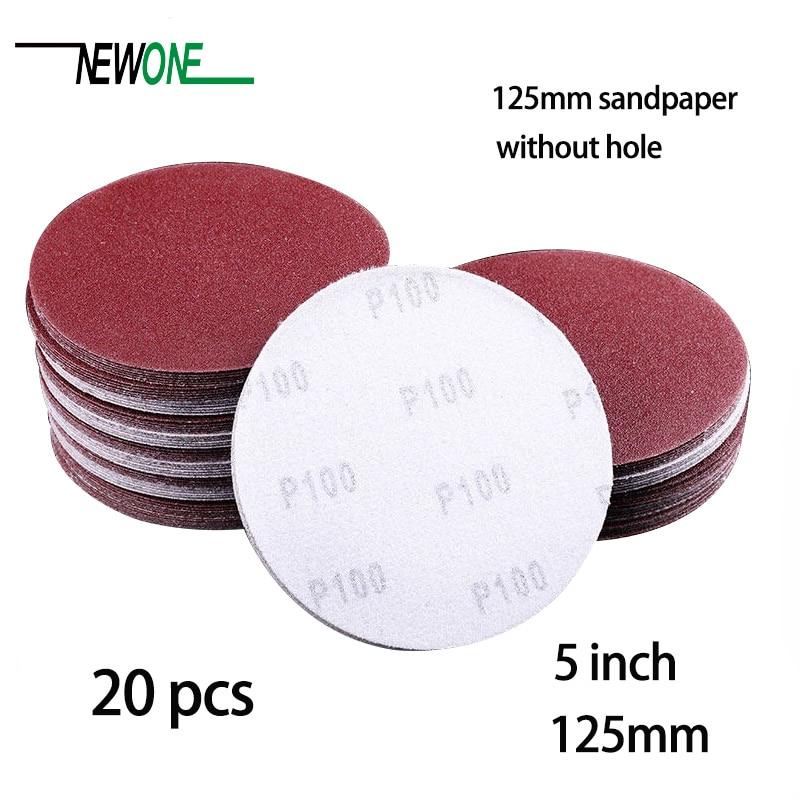20pcs 125mm Sander Disc Sanding Polishing Paper Sandpaper Disc #40 - #3000 Abrasive Tools For Sander Without Hole