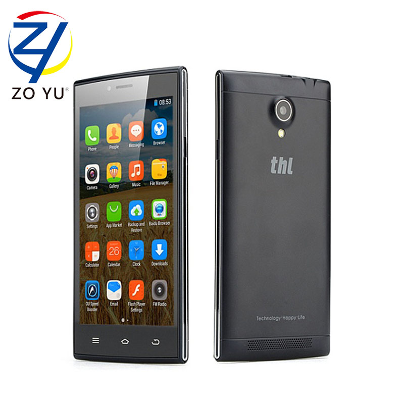 original THL T6C Android 5 1 MTK6580 Quad Core Smartphone 1G RAM 8G ROM 854 x