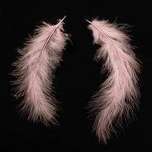 Практичные 100 шт пушистые перья марабу вечерние свадебные отделка декор DIY 8-15 см розовый
