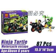 Bela 10261 Ninja Tortoise Mutant Era Motorcycle Escape Minifigures Building Block Minifigure Toys Best Toys