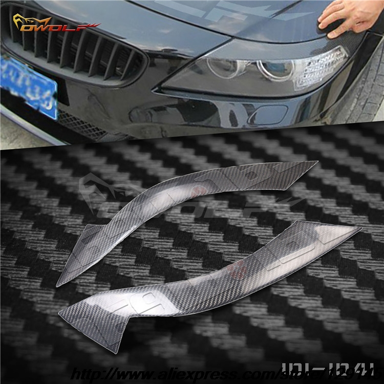 Bmw Z4 Car Cover: Carbon Fiber Front Headlight Eyelids Eyebrows Cover Trim