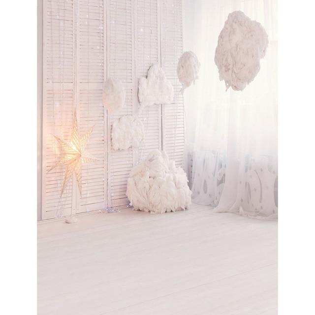 150X220cm Customize White Indoor Room Children Wedding Photography Background Backdrop For Photo Studio Custom Baby Shower