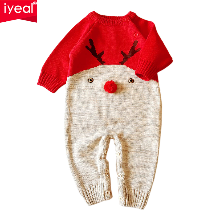 IYEAL Newborn Baby Clothing Cartoon Kids Clothes Spring Autumn Boy Girl Jumpsuit Baby Romper Long Sleeve Cotton Infant Overall iyeal newborn winter clothes cotton padded baby clothing long sleeve hooded animal baby girl boy romper cartoon warm jumpsuit