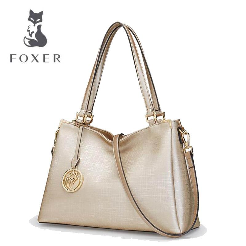 FOXER Women bag 2018 new serpentine fashion shoulder Messenger Bag Handbag цены