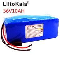 Liitokala 36 V 10AH bicicleta elétrica bateria de carro scooter de alta-capacidade da bateria de lítio não inclui o 42 v carregador