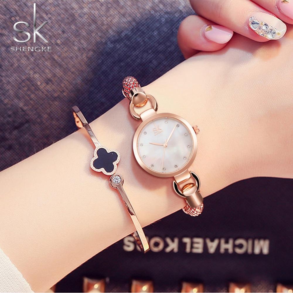 a3d03ca9fce Pulseira Relógios das Mulheres moda marca sk bracelete para Marca   Shengke