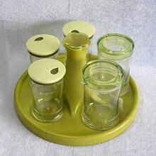 Transparent Plastic Seasoning Box With Spoon Spice Storage Box Case Condiment Bottle Salt Spice Jar Cooking Supplies SB-005 цена 2017