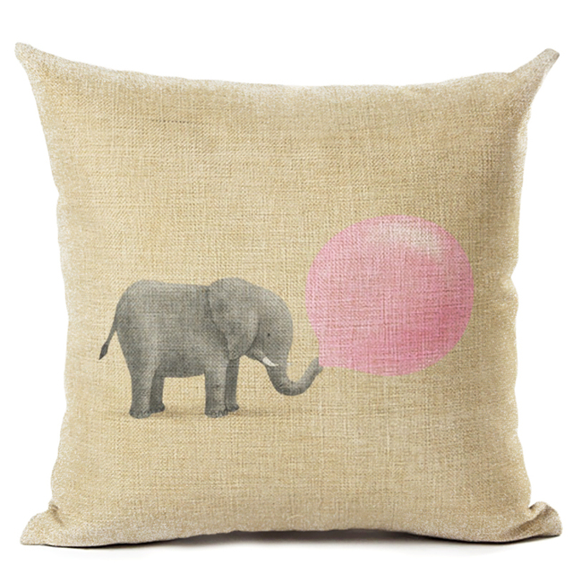 Pillowcase In Spanish Adorable Docushion 60cm60cm Pillow Case Cotton Linen Spanish Elephant Style