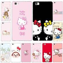 Soft TPU Silicone Transparent Phone Cases for Huawei P8 P9 P10 P20 Mate 10  Pro Y5 Y6 II Y7 Honor 6X 7X 9 Lite Cute Hello Kitty f87ed6b9e4