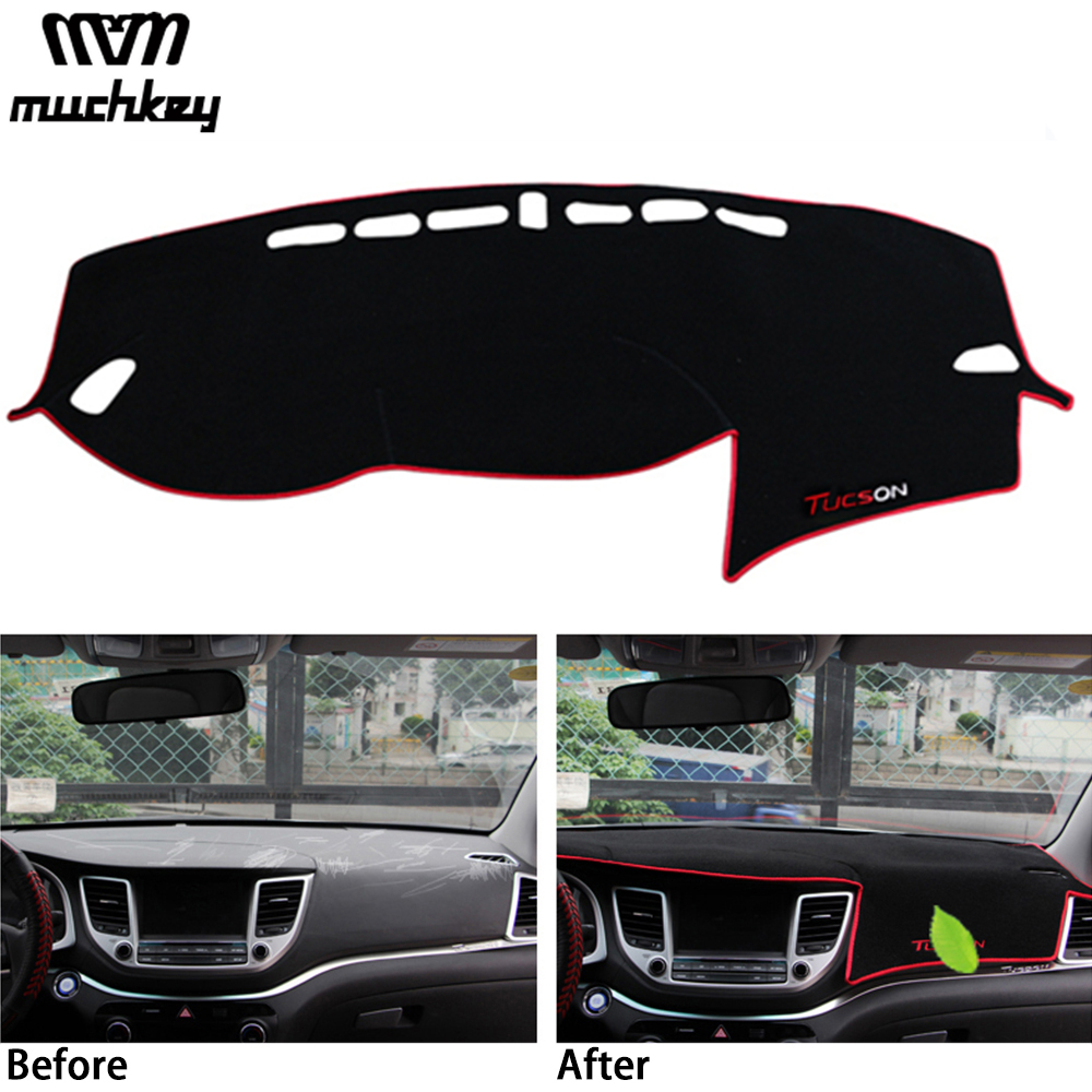 For Hyundai New Tucson 2016 2017 Car Dashboard Cover Dashmat Dash Mat Pad Sun Shade Dash Board Cover Carpet Car-Styling Protect dashmat original dashboard cover buick skyhawk
