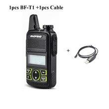 + Кабель baofeng новый ham Радио модель BF-T1 UHF 400-470 мГц двухстороннее Радио размер руки классический дизайн 0.5/1 Вт Мощность