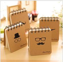 Korea amiable Mr Beard Spiral notebook Blank Paper Word book Notpad office School Supplies Stationery WJ0428
