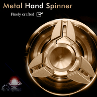 Metal Brass Tri-Spinner Fidget Puzzles Toys Hand EDC Spinner For ADHD Anti Stress Finger Toys 2017 Funny Fast Gyro Handspinner
