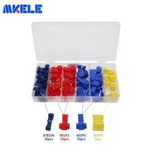 Free Shipping 65pcs/Box Assorted Insulated Electrical Wire Quick Splice Crimp Terminal Spade Connectors GP-H007 Makerele