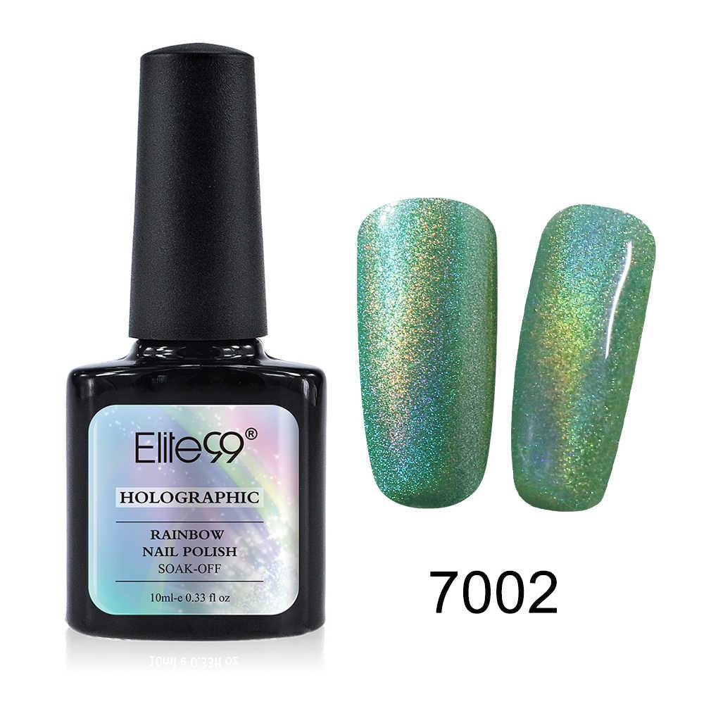 Elite99, esmalte de uñas de Color arcoíris, 10 ml, esmalte de manicura para manualidades, diseño de arte de uñas, esmalte sin limpiar, capa superior necesaria, laca