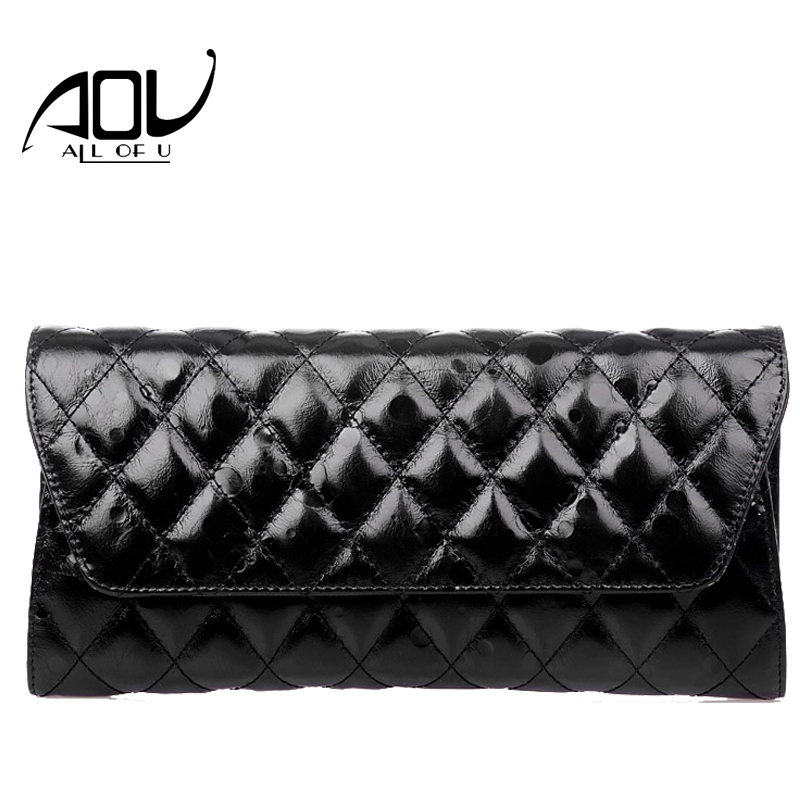 ФОТО Black Diamond Lattice Envelope Bags Lady Fashion Casual Day Clutches Split Leather Messenger Bags sac a main femme de marque