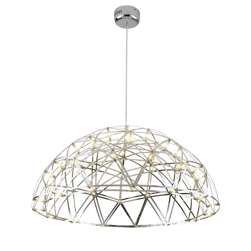 Norbic creative stainless steel spark ball LED pendant light fixture modern brief half ball dinning room glowworn pendant lamp