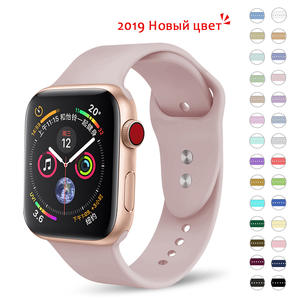 Sport-Band Wrist-Bracelet Replacement Apple-Watch Soft-Silicone 38mm Strap For Series1-2-3-4
