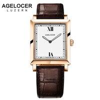 AGELOCER Элитный бренд Для женщин часы Мода 2017 г. Творческий Золото Дамы кварцевые часы Для женщин браслет Наручные Часы Relogio Feminino