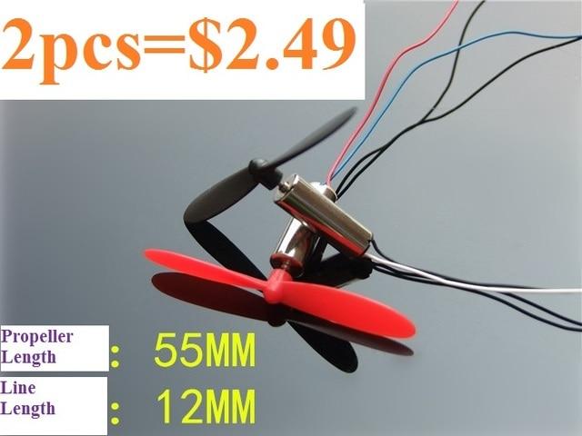 2 ピース DC3.7V 720 7*20 ミリメートルミニモデルヘリコプターコアレス Dc モータ 55 ミリメートルプロペラミニグレートトルク高速モーターで送料無料