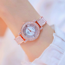 цены на New hot sale gold silver rose gold a Roman numeral rhinestone dial white strap ladies watch Fashion & Casual Chronograph  в интернет-магазинах