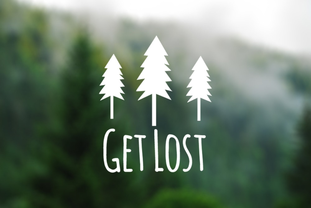 Get Lost Words And Trees Silhouette Computers Laptops Wallpapers Or Cars Decals Removable Adhesives Murals Vinyl Stickers S 412 In Wall From Home