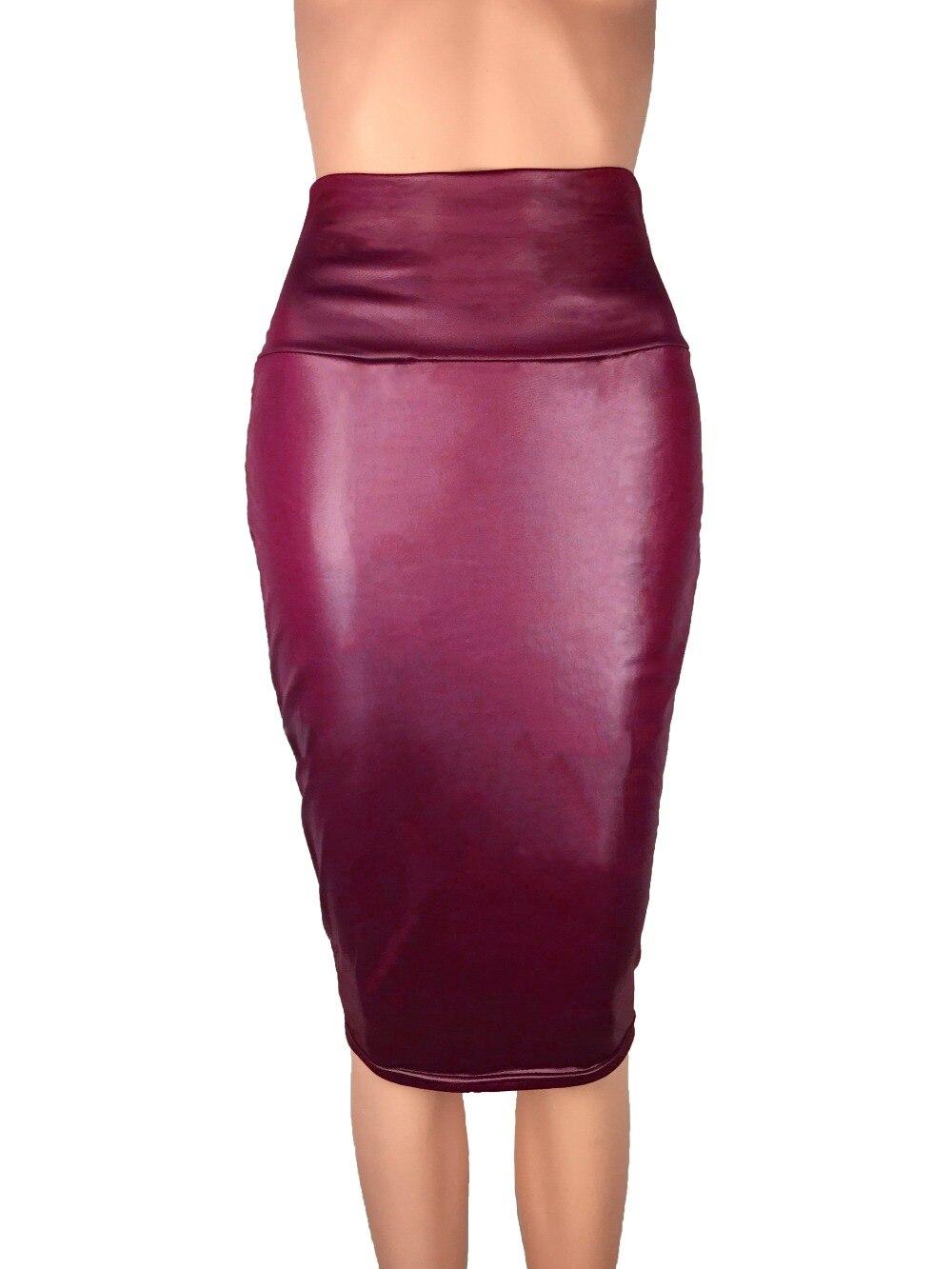 Bohocotol 2018 μολύβι faux δερμάτινη φούστα - Γυναικείος ρουχισμός - Φωτογραφία 4