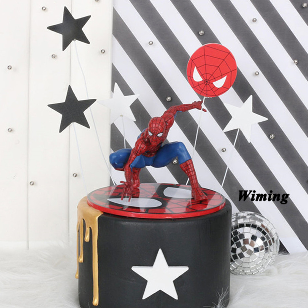 toy spider man baby first birthday boy party supplies spiderman hot toys cake decorating topper