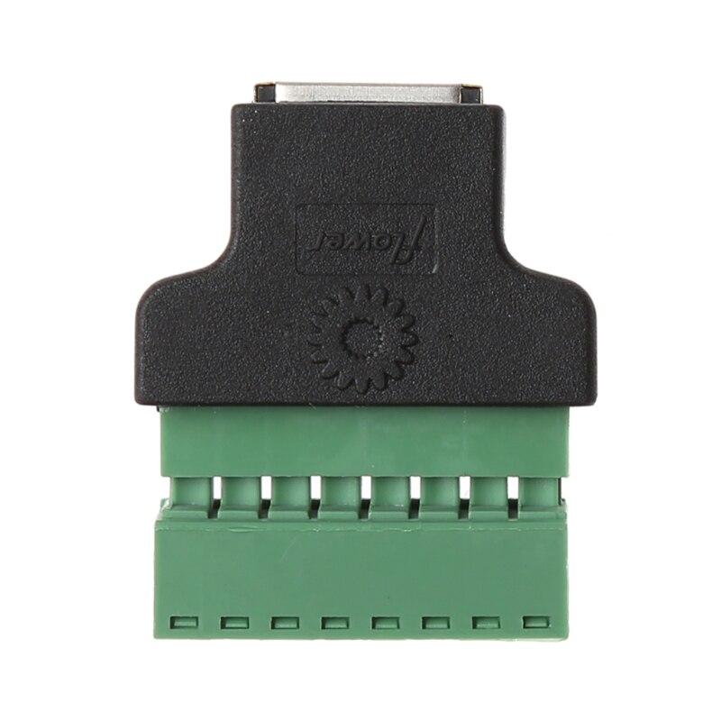 Ethernet RJ45 בורג מסופי רשת מתאם נקבה כדי 8 פינים בורג מסוף מחבר מתאם עבור טלוויזיה במעגל סגור הדיגיטלי DVR|adapter female|adapter rj45adapter ethernet -