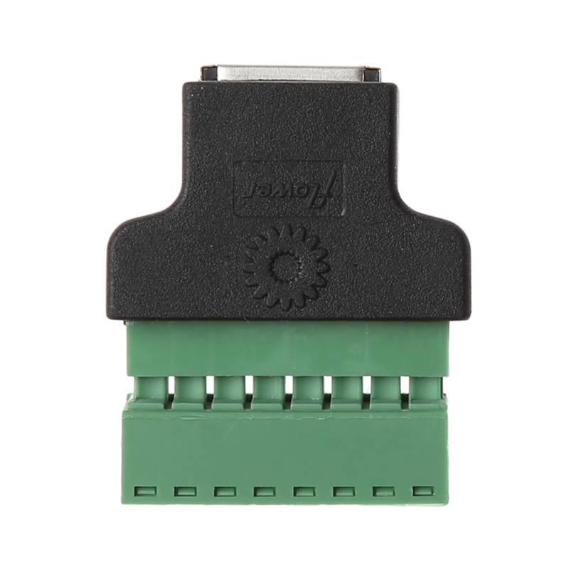 Ethernet RJ45 Screw Terminals Network Adapter Female To 8-Pin Screw Terminal Connector Adapter For CCTV Digital DVR
