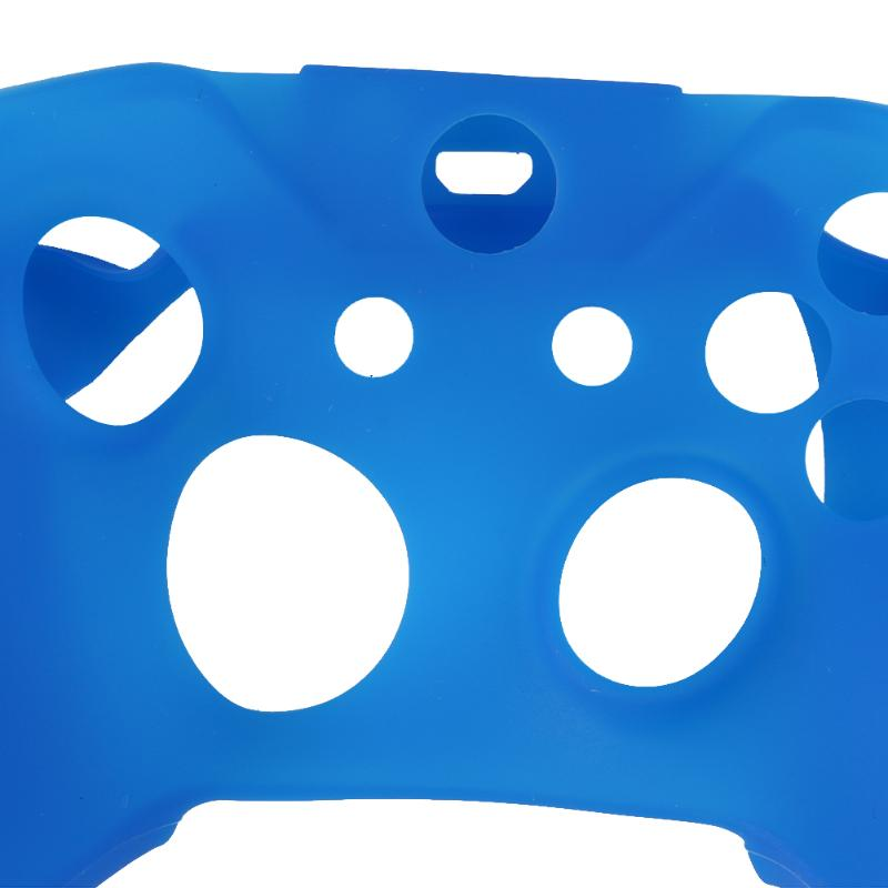 New Soft Silicone Rubber Skin Gamepad Protective Case Cover Game Pad Joystick Accessories for Microsoft Xbox One S Controller in Gamepads from Consumer Electronics