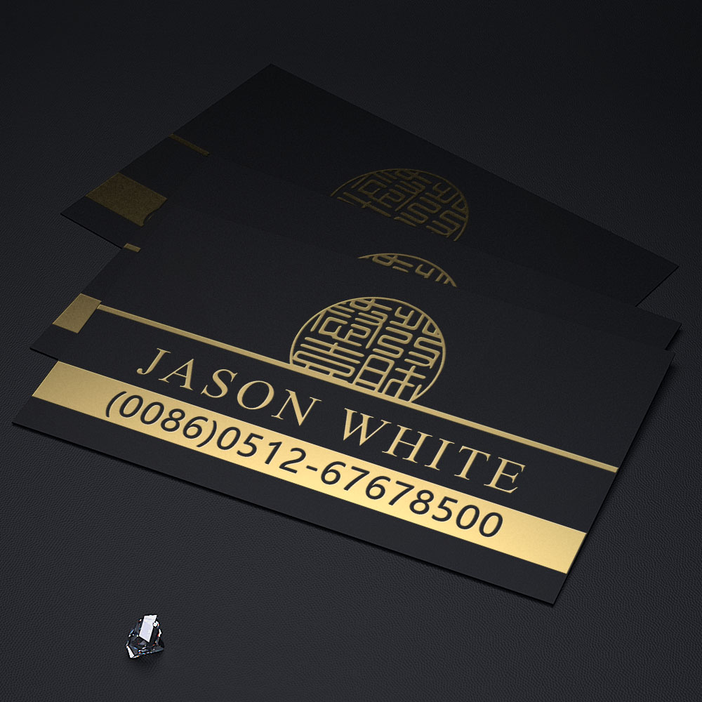 Customized business cards classical chinese style high quality customized business cards classical chinese style high quality black gold foil business cards printing design in business cards from office school magicingreecefo Gallery