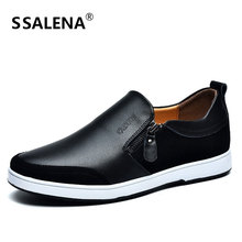 Mens Genuine Leather Casual Shoes Light Weight New Design Men Dress Shoes Spring Autumn Breathable Driving Shoes AA30050