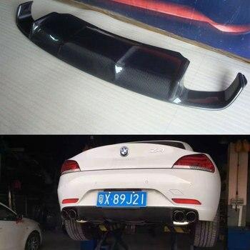 E89 3D Style Carbon Fiber Rear Bumper Lip Diffuser Untuk BMW Z4 standar Bumper 2009 ~ 2013 (tidak untuk m sport)