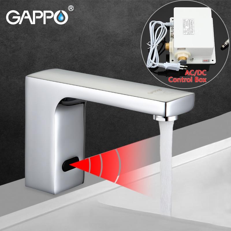 GAPPO Basin Faucets Sensor basin sink mixers taps deck mounted sink water taps bathroom waterfall mixer faucet металлические переплётные элементы бобины шаг 3 1 диаметр 6 4 мм черные